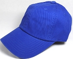 Washed 100% Cotton Blank Baseball Caps - New Strapback / Buckle - Royal Blue