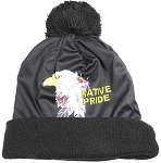 Wholesales Fashion Pom Pom Beanie Winter Hats - Native Pride - Eagle and Feather