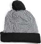 Wholesales Fashion Pom Pom Beanie Winter Hats - Classic Design - Woven Mesh