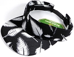 Flatbill Blank Snapback Visors Wholesale - Feather - Black