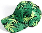Wholesale Dad Hat - Baseball Blank Caps - Marijuana - Cannabis (LEFT 1PC)