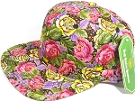 Wholesale Cotton Blank Floral Snapbacks Caps | MultiColor Rose - Solid
