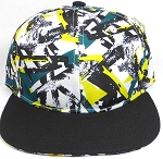 Wholesale Blank Modern Art SnapBack Hats - Black Brim