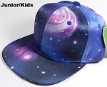 KIDS Jr. Galaxy Snapback Caps Wholesale - Blue Space - Solid
