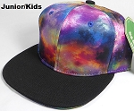 KIDS Jr. Galaxy Snapback Caps Wholesale - Supernova - Black Brim
