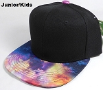 KIDS Jr. Galaxy Snapback Caps Wholesale - Supernova - Black Crown