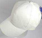 Corduroy 100% Cotton Plain Baseball Cap Wholesale - Slider Buckle - White