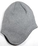 Winter Ear Flap Beanies Hats Wholesale  - Gray