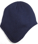 Winter Ear Flap Beanies Hats Wholesale  - Navy