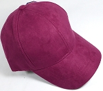 Suede Dad Hats Wholesale Blank Baseball Caps - Slider Buckle - Burgundy