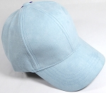 Suede Dad Hats Wholesale Blank Baseball Caps - Slider Buckle - Pastel Blue