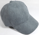 Suede Dad Hats Wholesale Blank Baseball Caps - Slider Buckle - Dark Gray