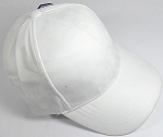 Suede Dad Hats Wholesale Blank Baseball Caps - Slider Buckle - White