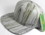 Colored Woodprint Solid Blank Snapback Hats Wholesale - Light Gray