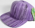 Colored Woodprint Solid Blank Snapback Hats Wholesale - Purple