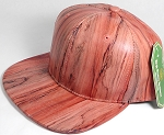 Colored Woodprint Solid Blank Snapback Hats Wholesale - Red