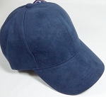 Suede Dad Hats Wholesale Blank Baseball Caps - Slider Buckle - Navy