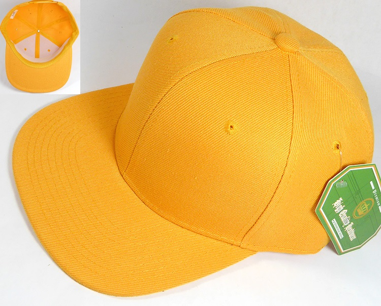 958a70df0 Blank Snapback Hats Caps Wholesale - Solid Golden Yellow