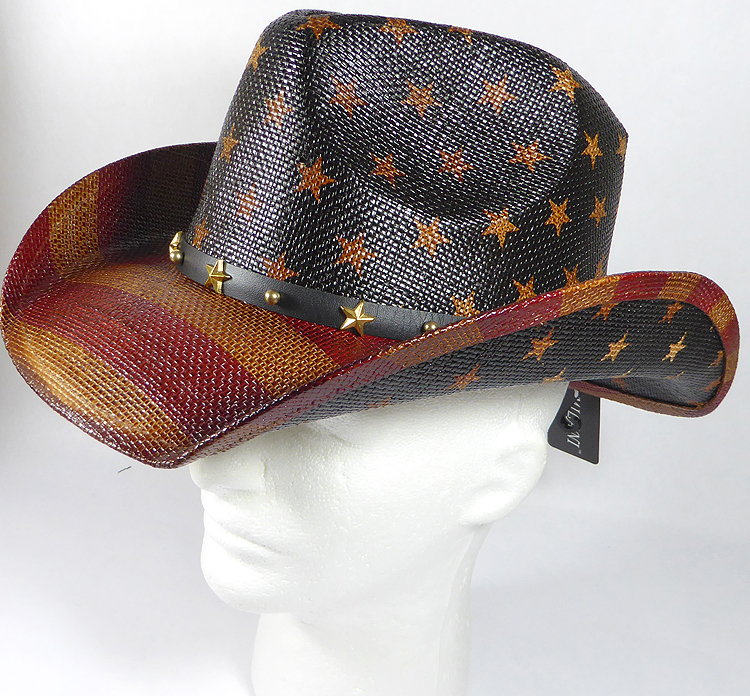 8221cf7f7a Cowboy Hat Wholesale - American Patriot - Straw and Star Belt ...