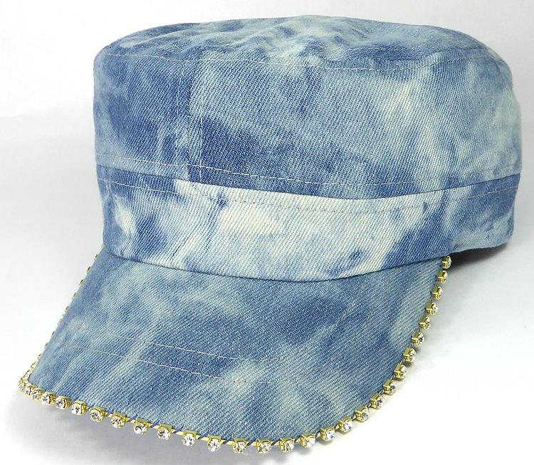 Bling Blank - Cadet Caps Wholesale - Denim L. Stone Splash 617f7514a004