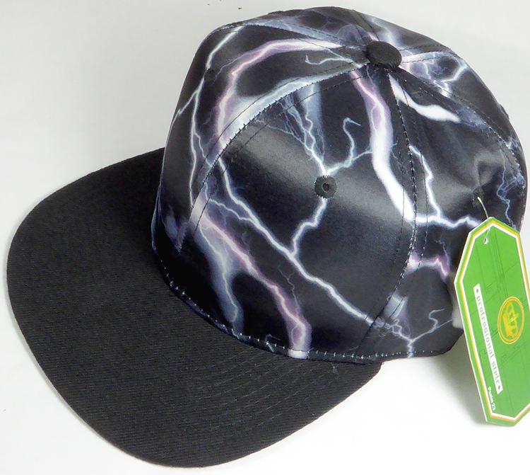 Wholesale Thunder Blank Snapback Caps - Black with Pink Lightning ... a207ad6f5445