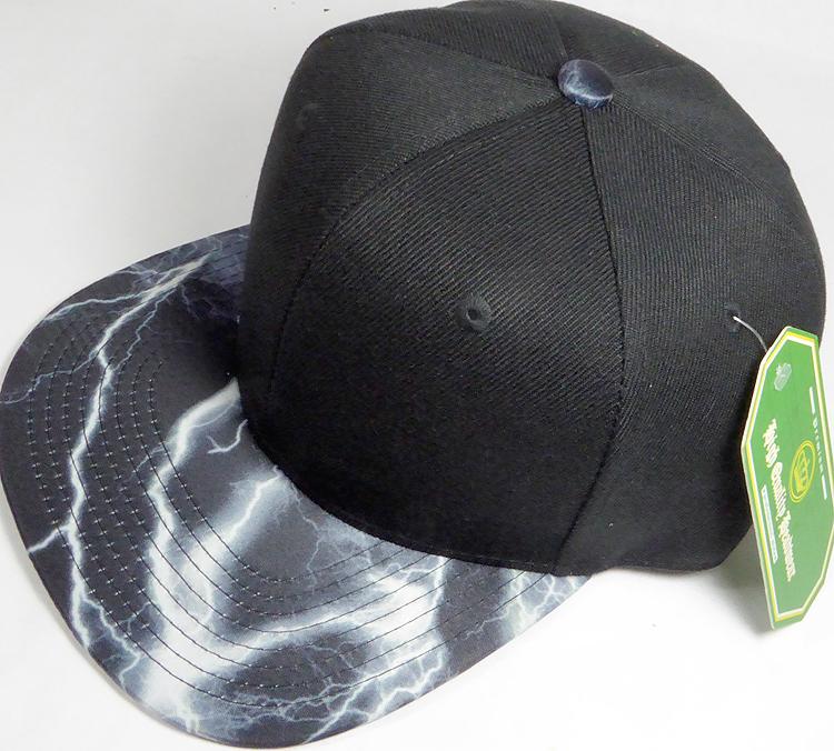 Wholesale Thunder Blank Snapback Caps - Original Black - Black ... a810118f1cb1