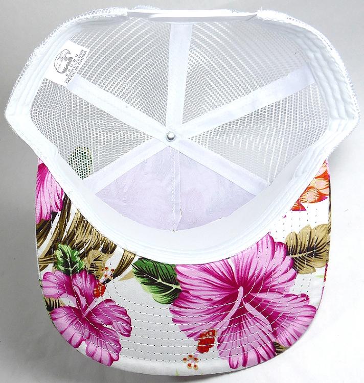 fa589c3c978 Wholesale Mesh Trucker 5 Panel Snapback Blank Hats - Floral Hawaiian ...