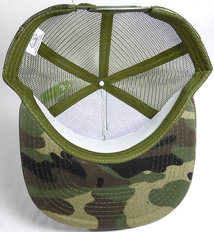 Wholesale Mesh Trucker 5 Panel Snapback Blank Hats - Solid - Camo bf528ca1042