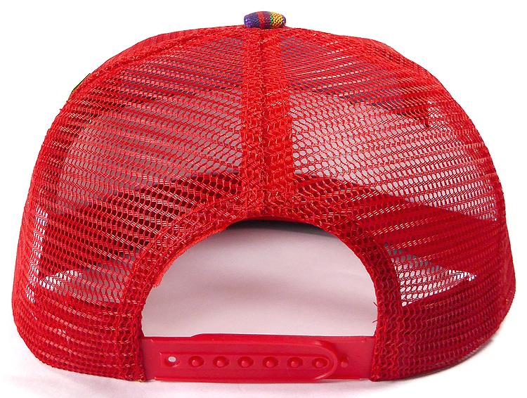 7f7a81b71 Wholesale Mesh Trucker 5 Panel Snapback Hats - Aztec - Red Stripe