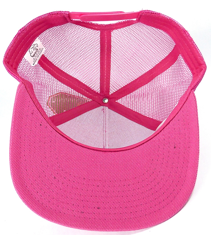 Wholesale Mesh Trucker 5 Panel Plain Snapback Hats - Hot Pink. Solid Plain  Trucker Snapback f00de476f085