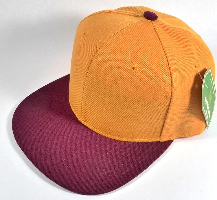 5e8bb558c Wholesale Blank Snapback Hats & Caps Two Tone - Gold Yellow ...