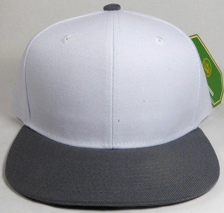 636813cf0d7f3 Wholesale Blank Snapback Hats   Caps Two Tone - White
