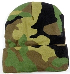 Long Cuff Beanie Hats Wholesale - CAMO 11 Inch