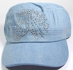 Bling Cowgirl HORSE Cadet Hats Wholesale - Central Horse - Light Denim