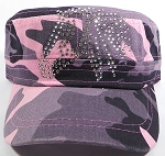Bling Cowgirl HORSE Cadet Hats Wholesale - Central Horse - Pink Camo