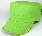 Bling Blank - Cadet Caps Wholesale - Lime Green