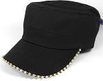 Bling Blank - Cadet Caps Wholesale - Black