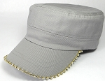 Bling Blank - Cadet Caps Wholesale - Light Gray