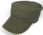 Bling Blank - Cadet Caps Wholesale - Olive Green