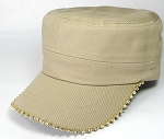 Bling Blank - Cadet Caps Wholesale - Khaki