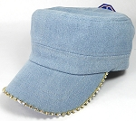 Bling Blank - Cadet Caps Wholesale - Denim Light Stone