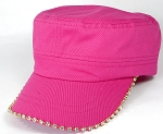 Bling Blank - Cadet Caps Wholesale - Hot Pink