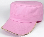 Bling Blank - Cadet Caps Wholesale - Light Pink
