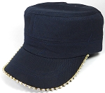 Bling Blank - Cadet Caps Wholesale - Navy