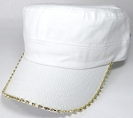 Bling Blank - Cadet Caps Wholesale - White