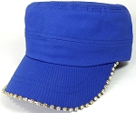 Bling Blank - Cadet Caps Wholesale - Royal Blue