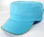 Bling Blank - Cadet Caps Wholesale - Tiffany Blue