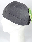Brimless Docker Cap Wholesale - Charcoal Denim
