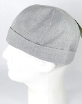 Brimless Docker Cap Wholesale - Light Gray Denim