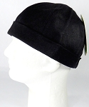Brimless Docker Cap Wholesale - Wash Cotton - Black